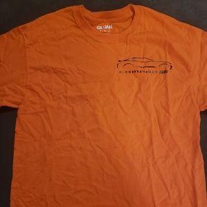 Gildan orange tshirt medium